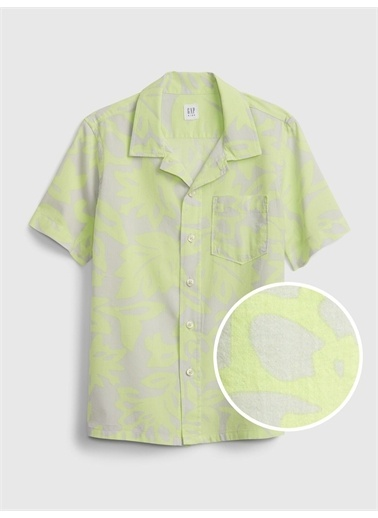 Gap Baskılı Gömlek Yeşil